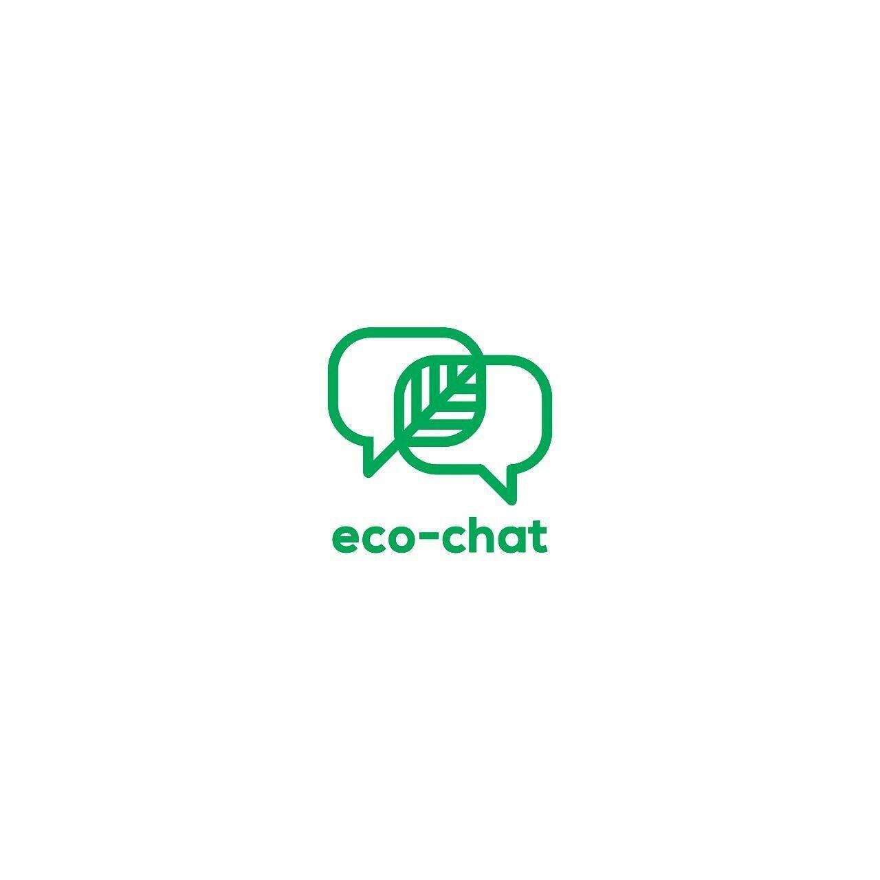 Eco Chat Logo Concept Concept Ecochat Logo