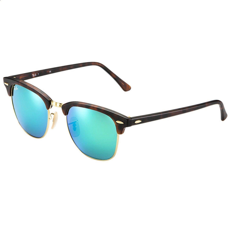 c6afc1ea877 Ray-Ban Sand Havana Green Mirror Clubmaster Sunglasses https   tmblr.