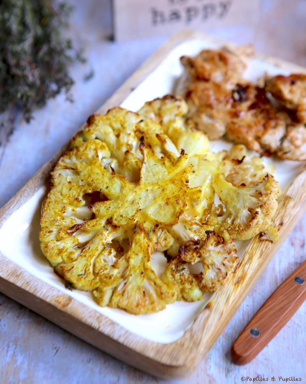 Chou fleur au curry, rôti au four   Recette   Chou fleur ...