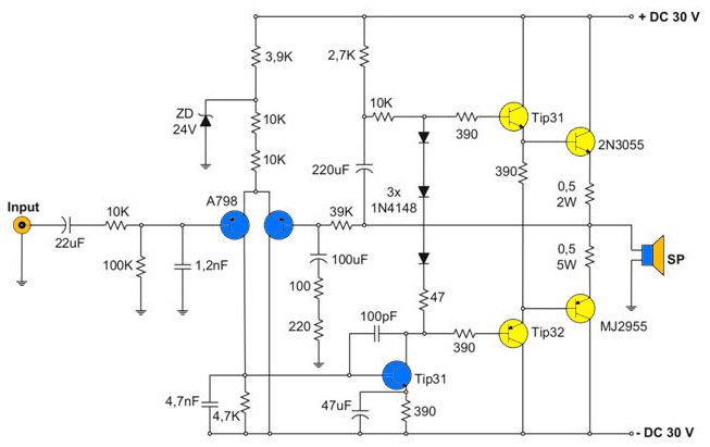 12v 400w Audio Amplifier Circuit Diagram Nerv