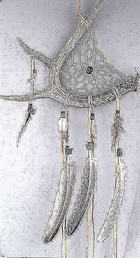 Deer Antler Dream Catcher Rustic Dreamcatcher Pure Dreamcatcher Native America Impressed Dreamcatcher Rustic Wall Hanging