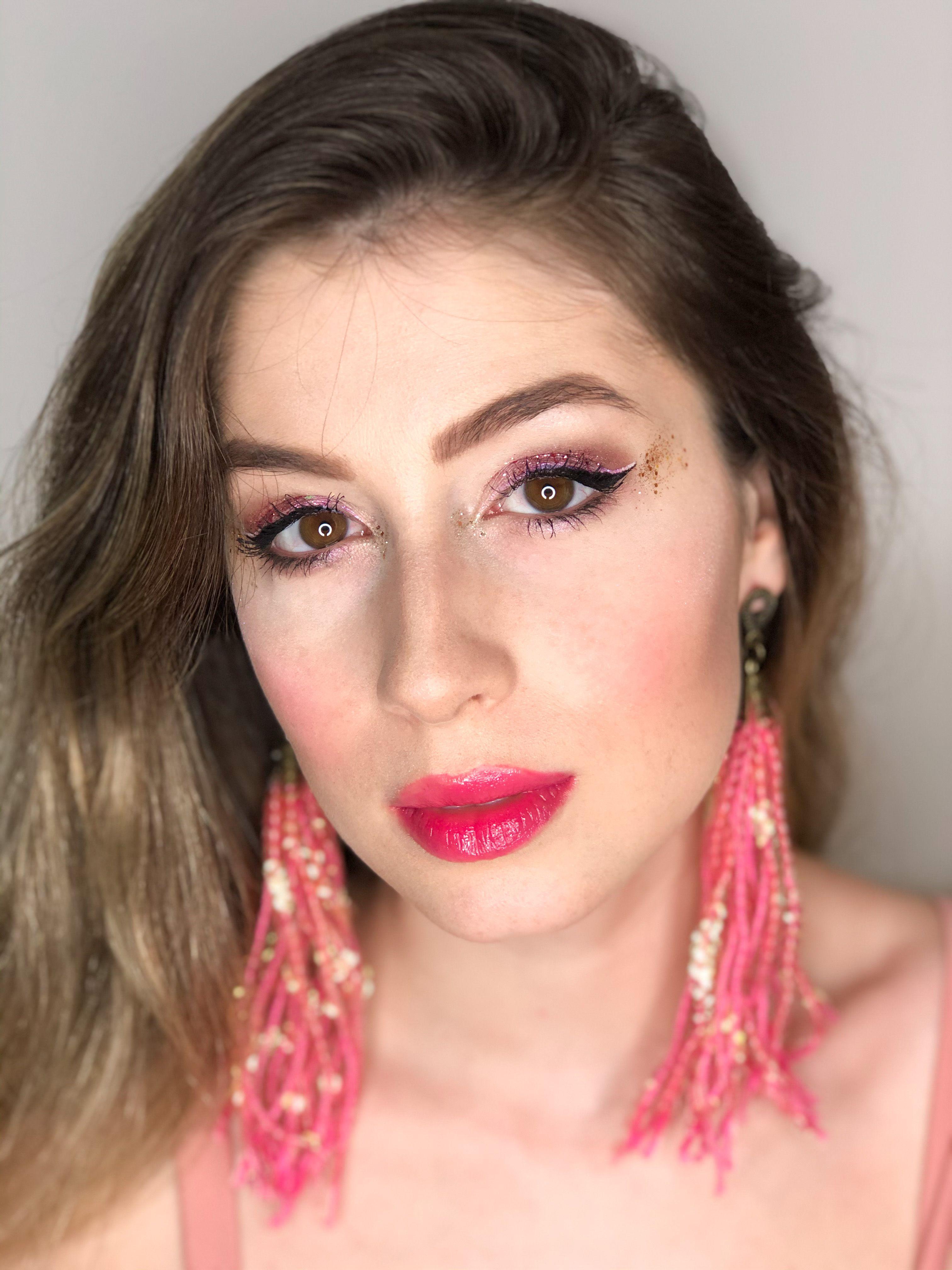 Tipo linda! | Maquiagem rosa, Maquiagem, Looks