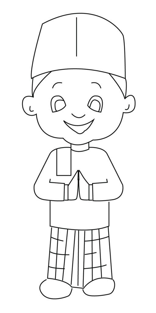 Ramadan Colouring Pages muslim activity