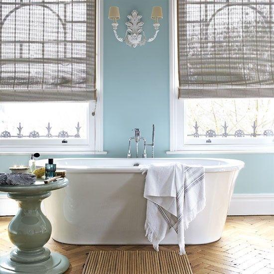 Frische blau Badezimmer Wohnideen Badezimmer Living Ideas Bathroom ...