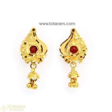 329b4f797c8b0d 22K Gold Earrings for Women with Beads - 235-GER9078 - Buy this Latest  Indian Gold Jewelry Design in 5.000 Grams for a low price of $333.00