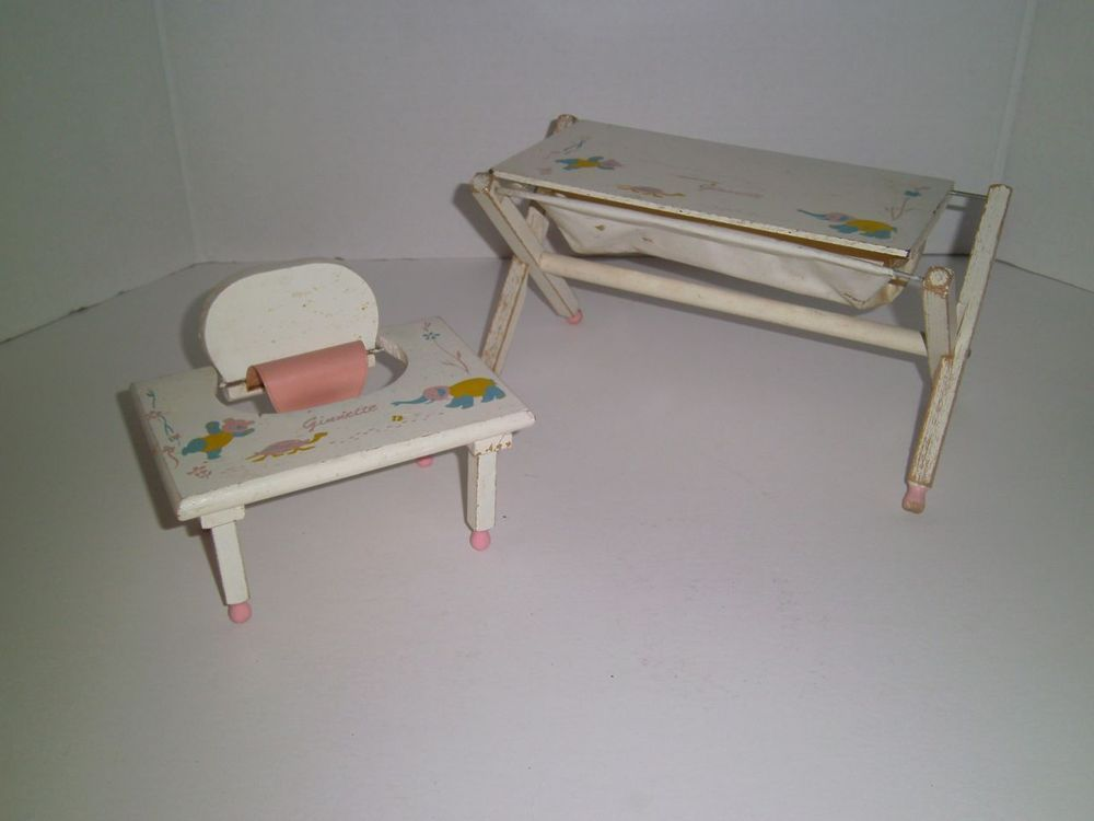 Vintage 1950u0027s VOGUE GINNETTE DOLLS High Chair And Changing Table Doll  Furniture #HousesFurniture