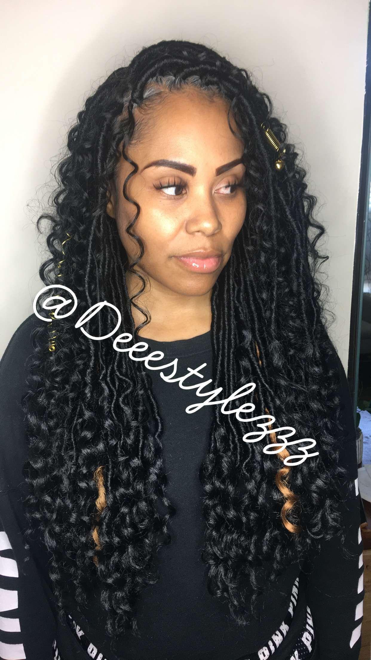 Fauxlocs Bohemianlocs Half Half Crochethairstyles Crohetfauxlocs Hairstylist Hairstyle Faux Locs Hairstyles Weave Hairstyles Brazilian Hair Weave