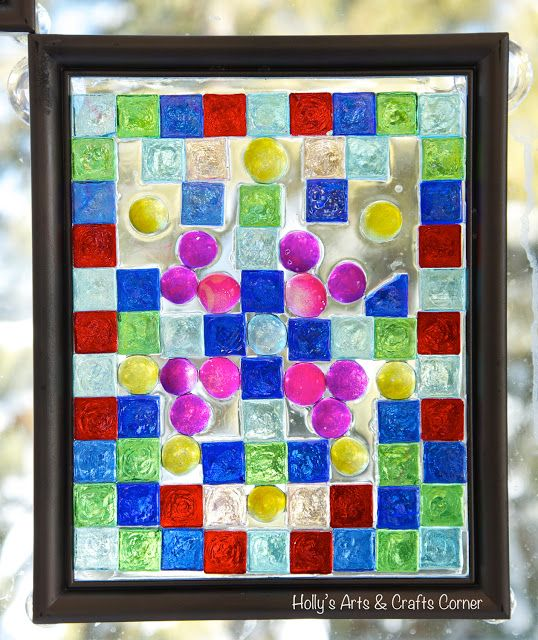 Craft Project Diy Faux Stained Glass Frames Crafts Craft Projects Faux Stained Glass