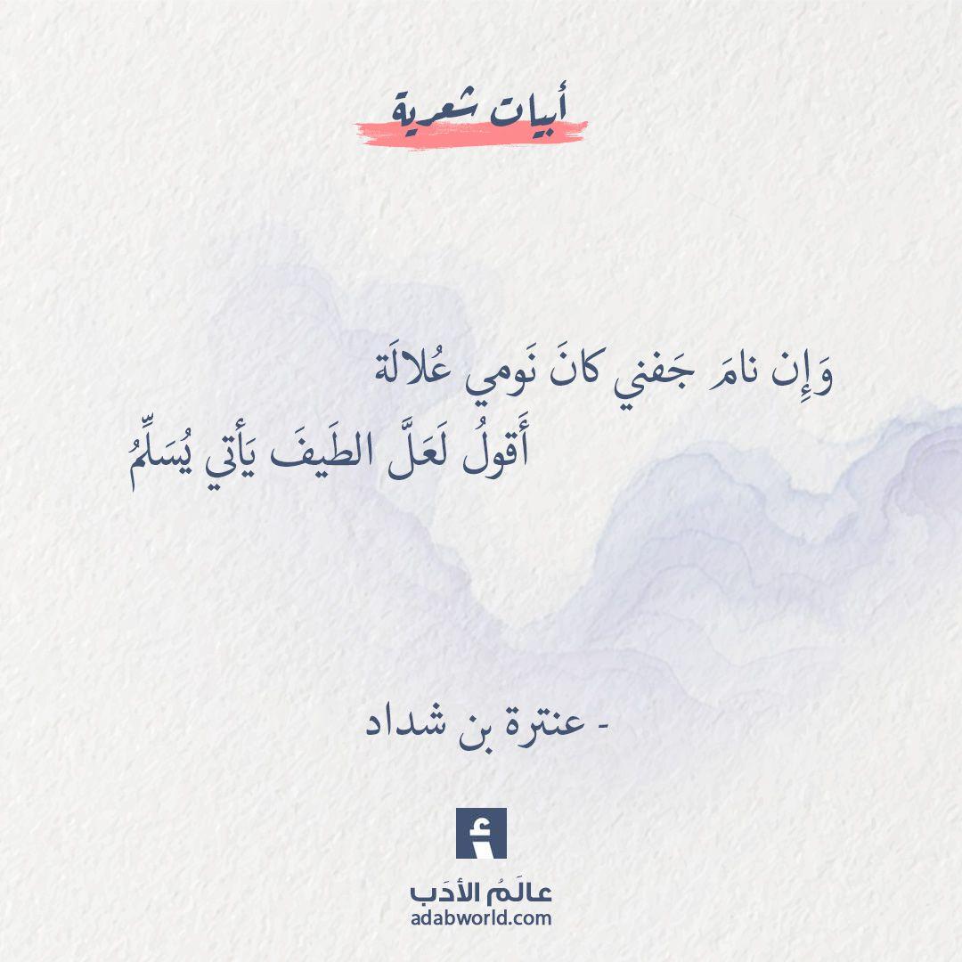 و إ ن نام ج فني عنترة بن شداد عالم الأدب Words Quotes Wonder Quotes Quotations