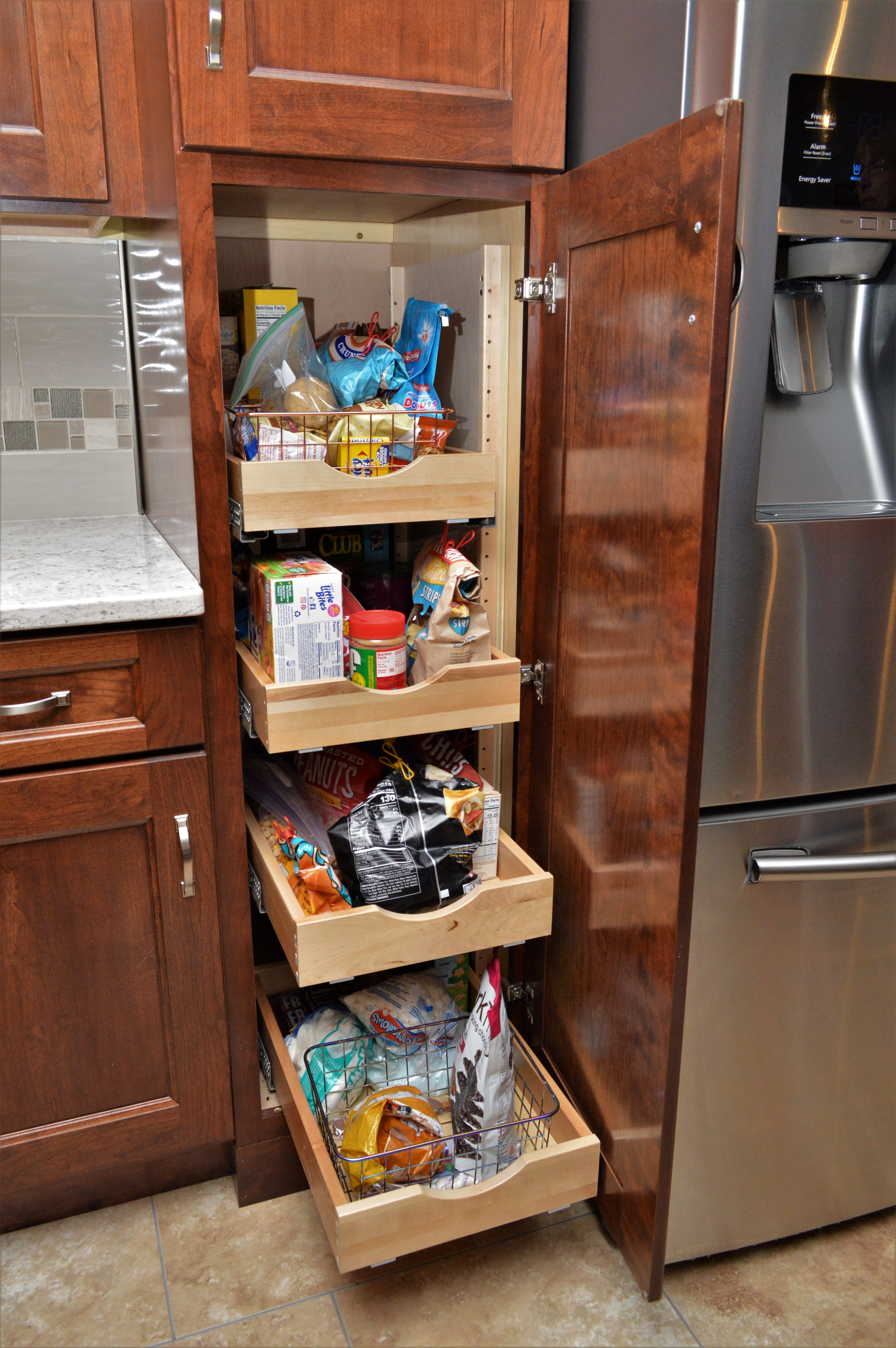 Pantry Pull Out Shelves Cabinet Brand Haas Signature Collection