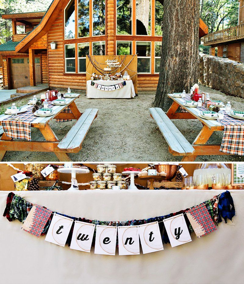 Rustic+Cabin+in+the+Woods+Wedding+Anniversary+Party