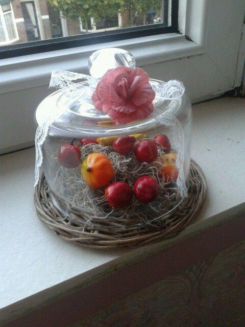 Herfst decoratie glazen stolp met roos van de xenos for Decoratie herfst