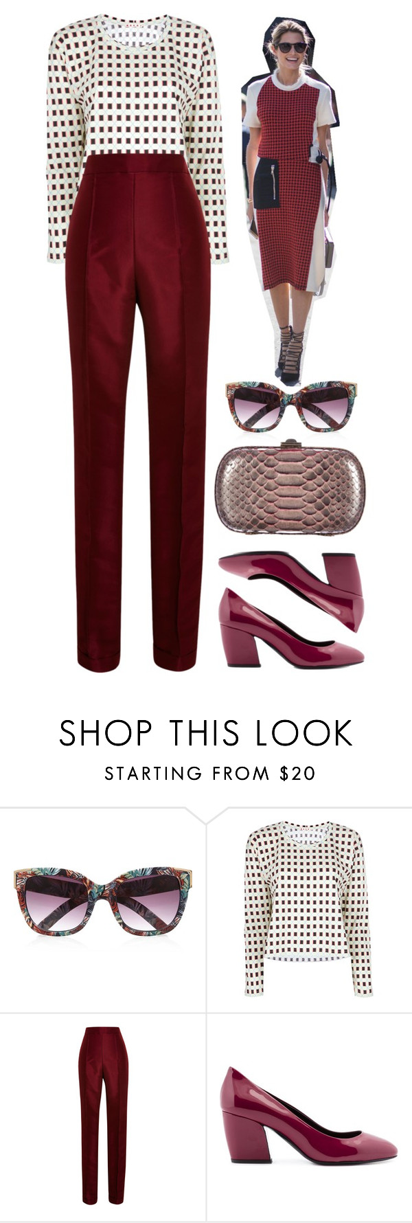 """""""Carmine"""" by cherieaustin on Polyvore featuring River Island, Marni, Rosie Assoulin, Pierre Hardy, Kara Ross, RiverIsland, karaross, marni, PierreHardy and RosieAssoulin"""