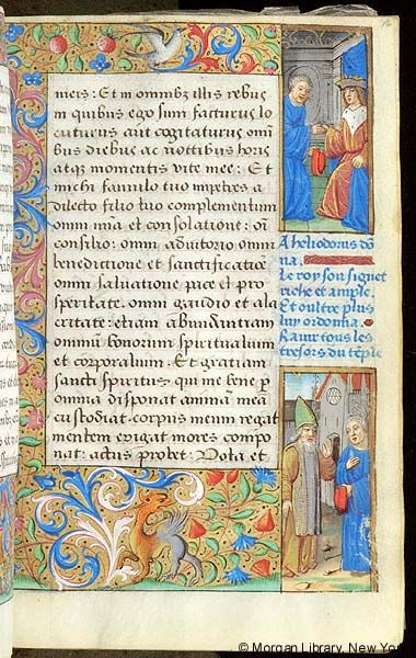 Book of Hours, MS H.5 fol. 16r - Images from Medieval and Renaissance Manuscripts - The Morgan Library & Museum