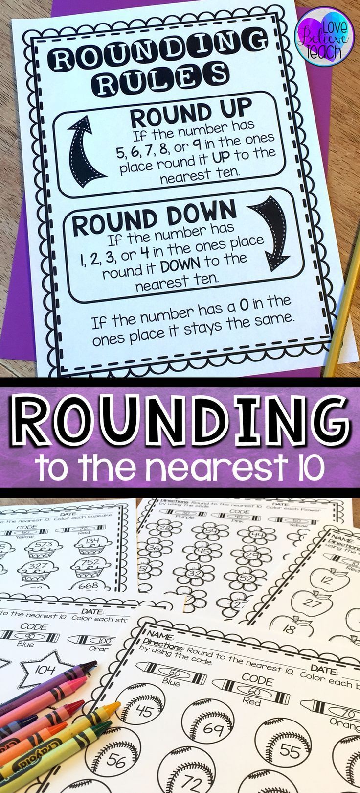 Rounding to the Nearest 10 | Rounding numbers, Anchor charts and Chart