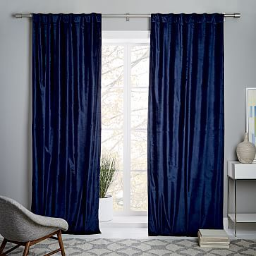 Can You Have Too Much Velvet I Love These Navy Curtains