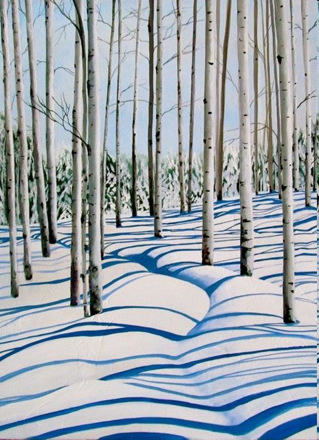 Image result for ribbons of snow paintings