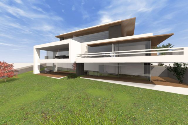 modernes mehrfamilienhaus bauen 3 6 parteien mit penthousewohnung huise pinterest. Black Bedroom Furniture Sets. Home Design Ideas
