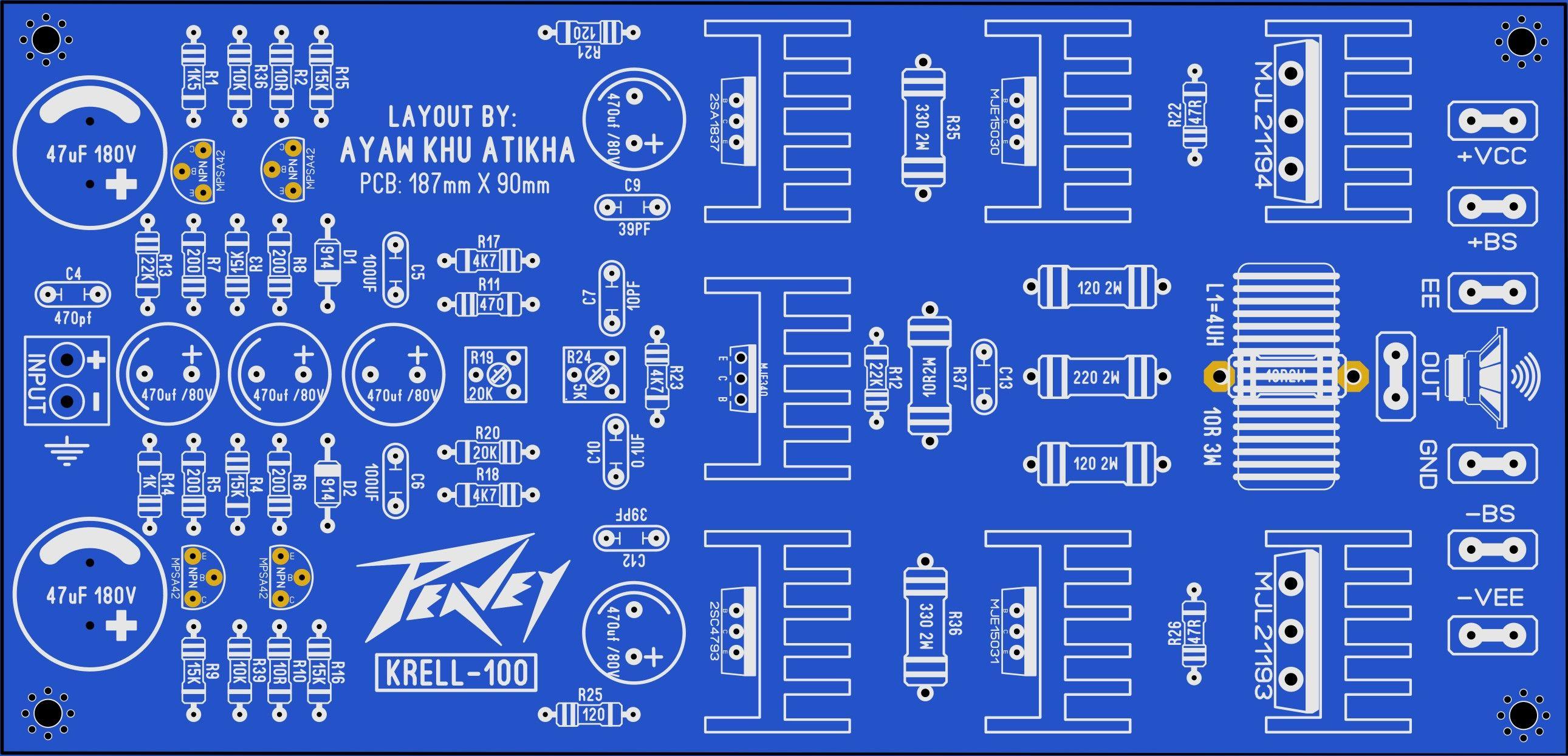 Peavey Krell 100 Ayaw Khu Atikha Electronics Pcb Project Pinoy 2sa1943 8211 2sc5200 Schema And Layout For Audio
