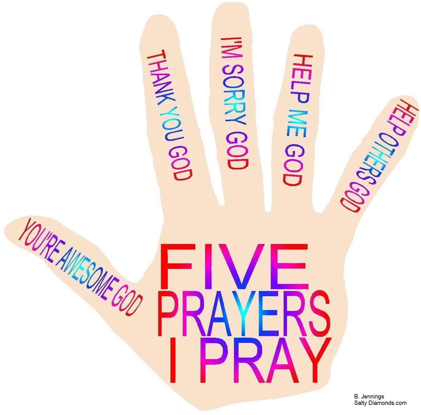Satellite The Prayer Hand Five Prayers I Pray Free