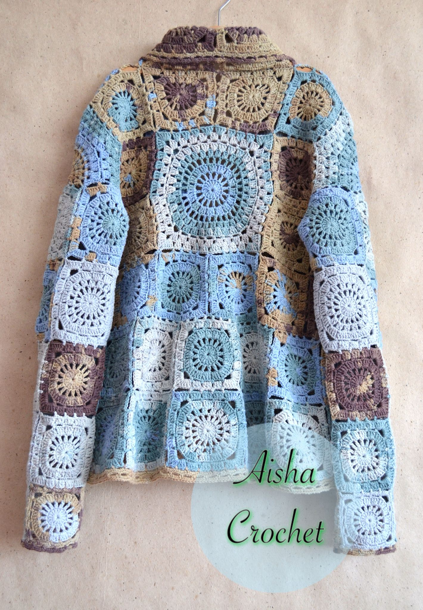 boho jacket sicilia by aisha crochet aisha crochet pinterest boho crochet and granny squares. Black Bedroom Furniture Sets. Home Design Ideas