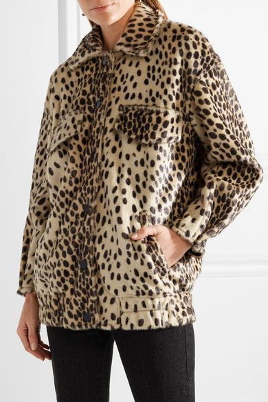 173f4943f914 By Malene Birger - Tidara Oversized Leopard-print Faux Calf Hair Bomber  Jacket - Leopard print