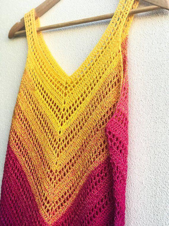 Crochet Dress Crochet Bikini Coverup Strandkleid Boho #crochetbeachdress