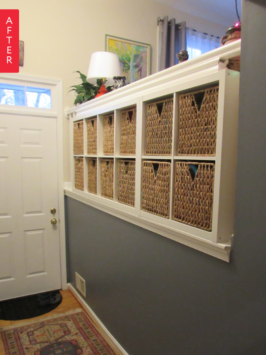 Before Amp After From Balustrade To Ikea Built In Storage Before Amp After Projects Home Home