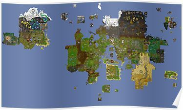 OldSchool Runescape World Map | Poster | Products in 2019 ...