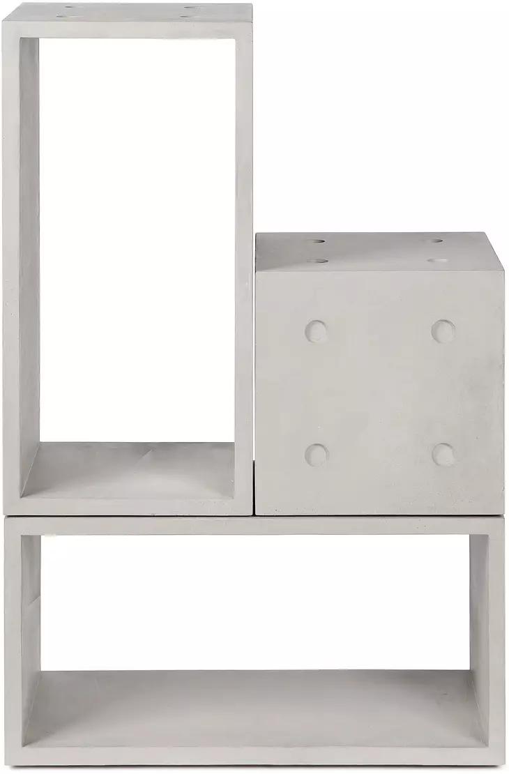 3 Modules De Rangement 1m 2l Dice Lyon Beton En 2020 Collection De Meubles Meuble Rangement Meubles De Rangement