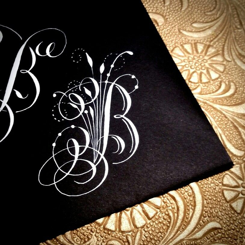 Letter B by Kathy Milici Fancy letters, Calligraphy