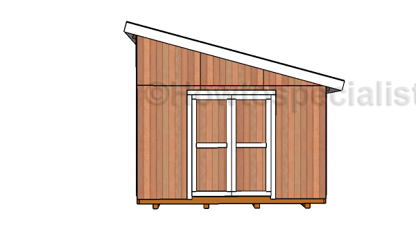 12x16 Lean To Shed Plans   Front View