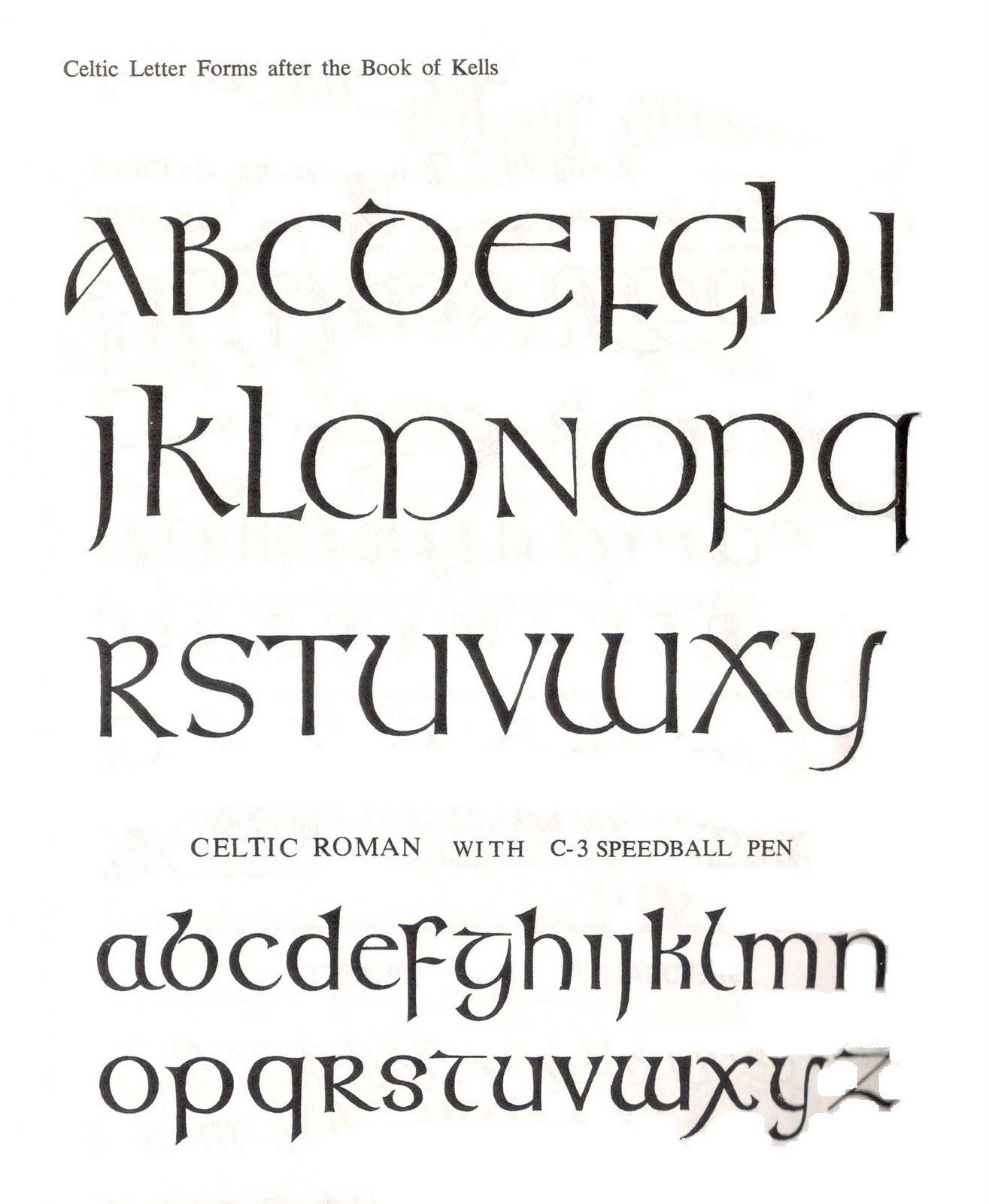 kells letters | Needle Art | Hand lettering alphabet