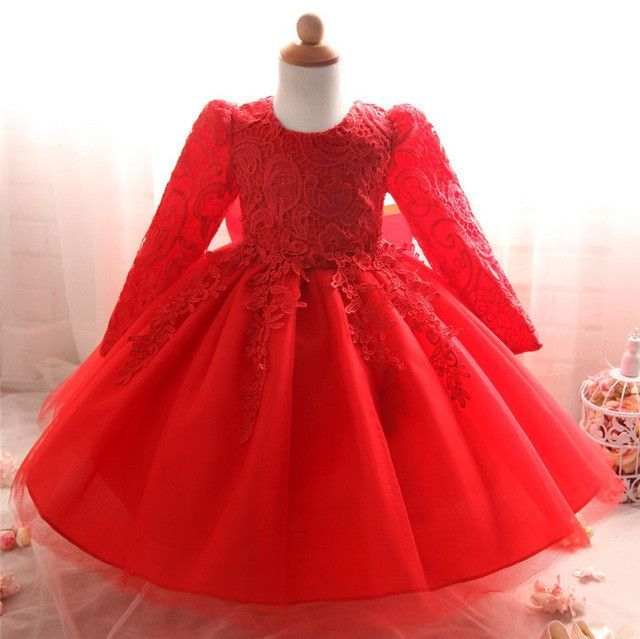 cb088eb40 Winter Newborn Baby Baptism Dresses For Girls 1st Birthday Outfits ...