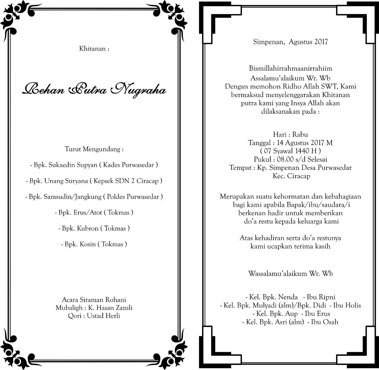 desain undangan khitanan yang bisa di edit   Undangan, Desain ...