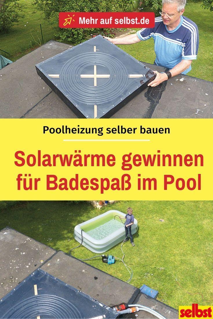 Poolheizung selber bauen #poolimgartenideen