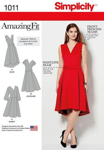Simplicity Amazing Fit 1011 - Misses and Plus Size Amazing Fit Dress