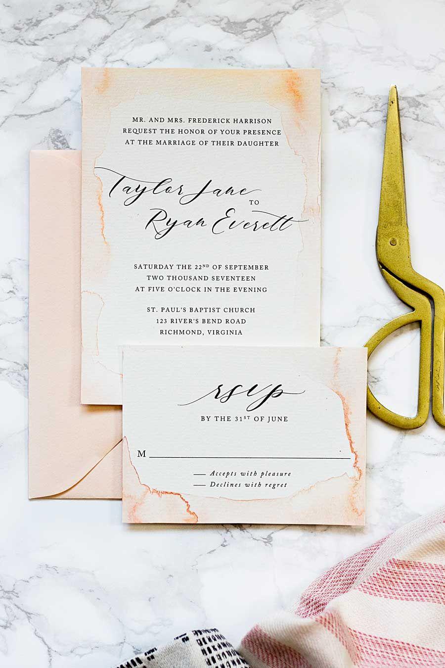 The Coolest Watercolor Wedding Invitations Of Different Styles Elegantweddinginvites Com Blog Make Your Own Wedding Invitations Wedding Invitations Diy Cheap Wedding Invitations