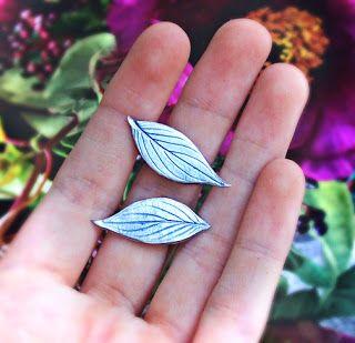 Quiet Lion Creations: Nugaard Jequibita Leaf Earrings