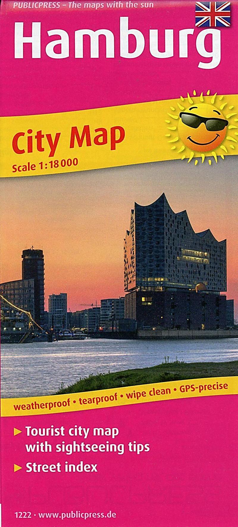 Publicpress City Map Hamburg Buch Versandkostenfrei Bei Weltbild