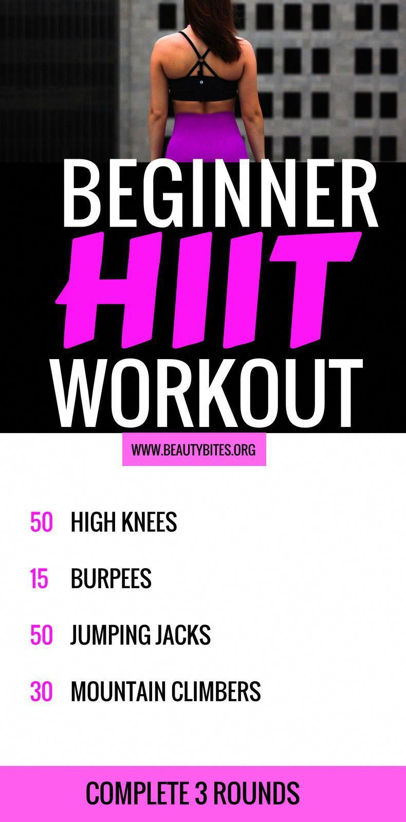 A simple full-body beginner HIIT workout! Try this at home