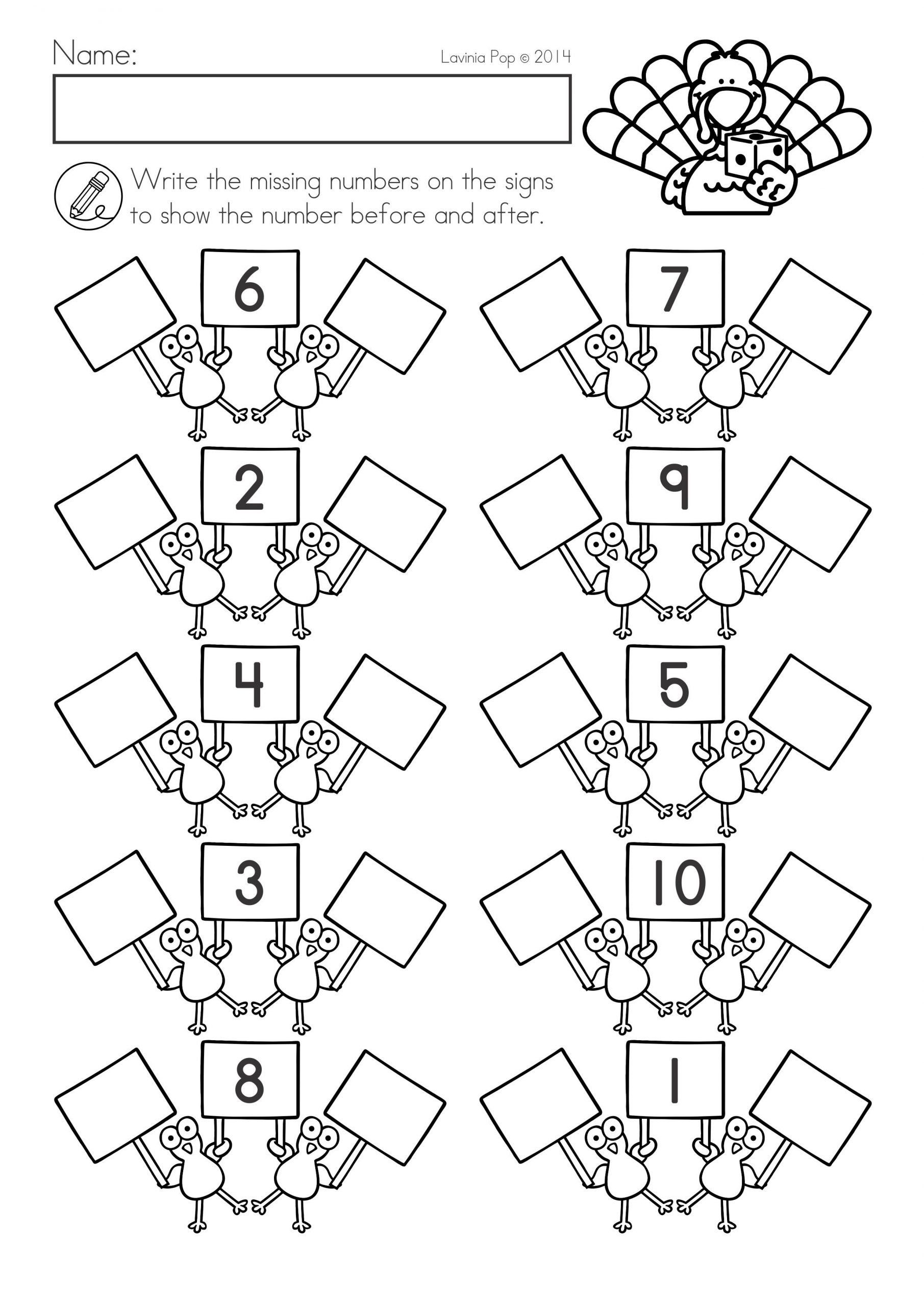 Thanksgiving Math Worksheets First Grade Thanksgiving Math