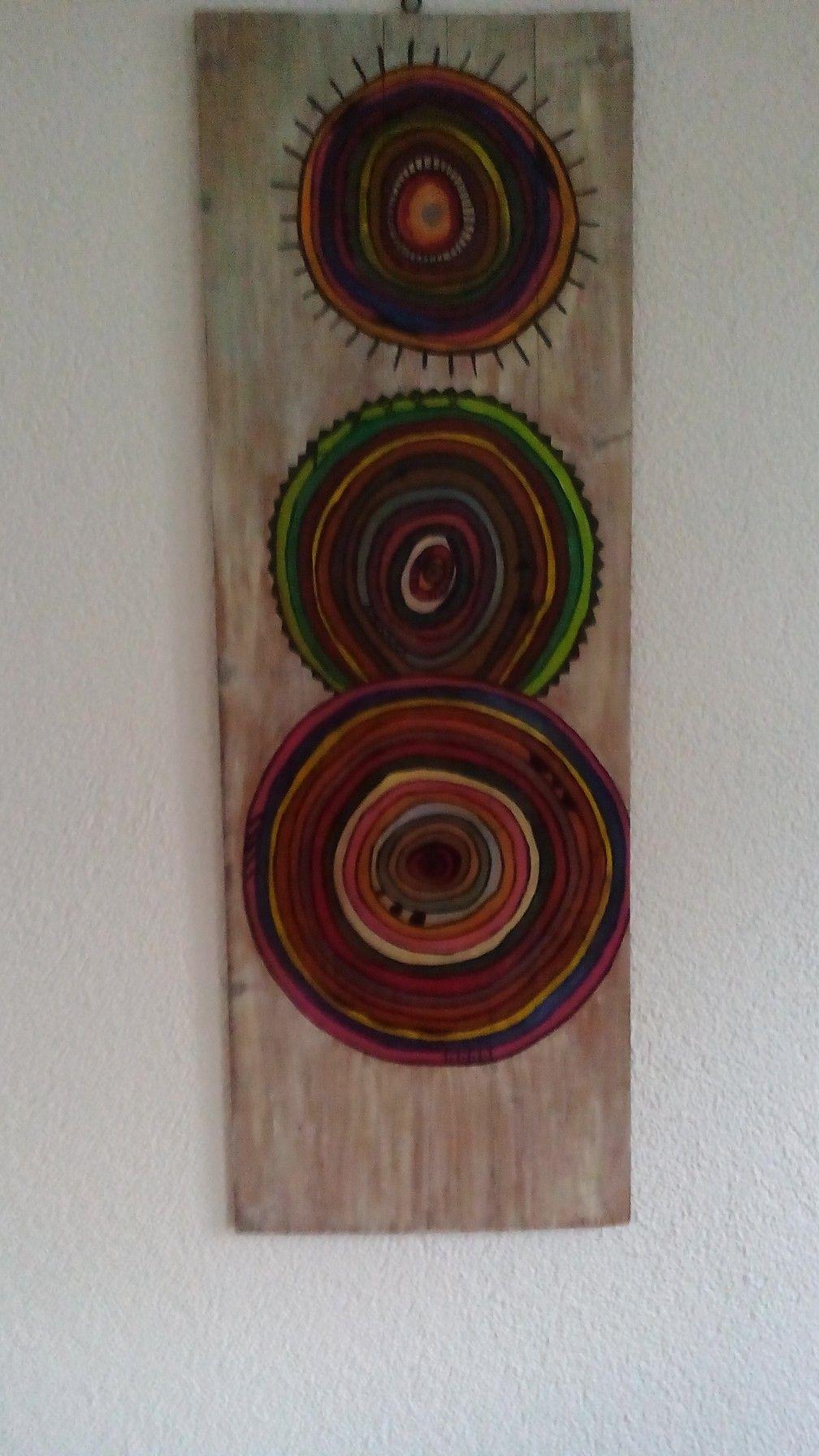 Wanddeko Acrylfarben Auf Holz Acrylfarbe Acryl Holz
