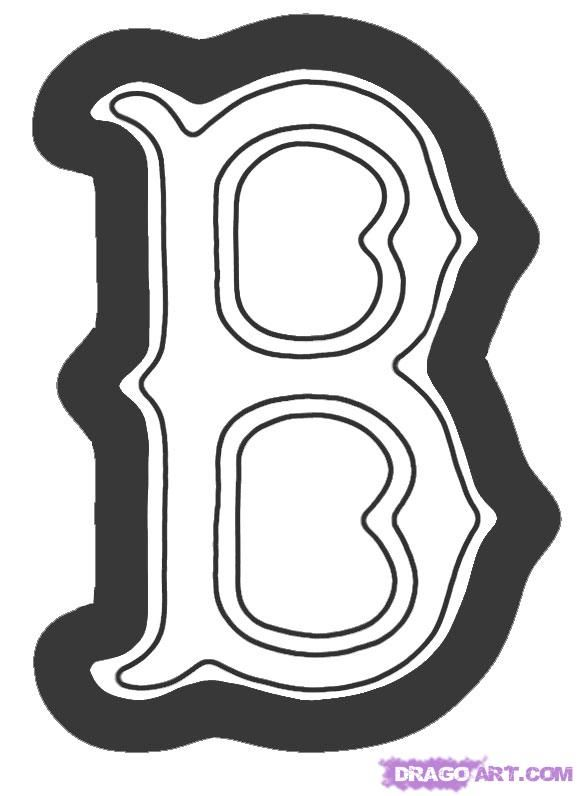 how to draw the boston red sox logo step 5 Boy crafts