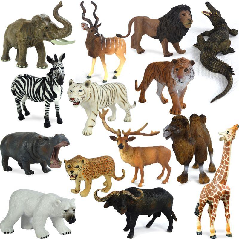 Wild Animal Toy Original Genuine Wild Jungle Zoo Farm Plastic