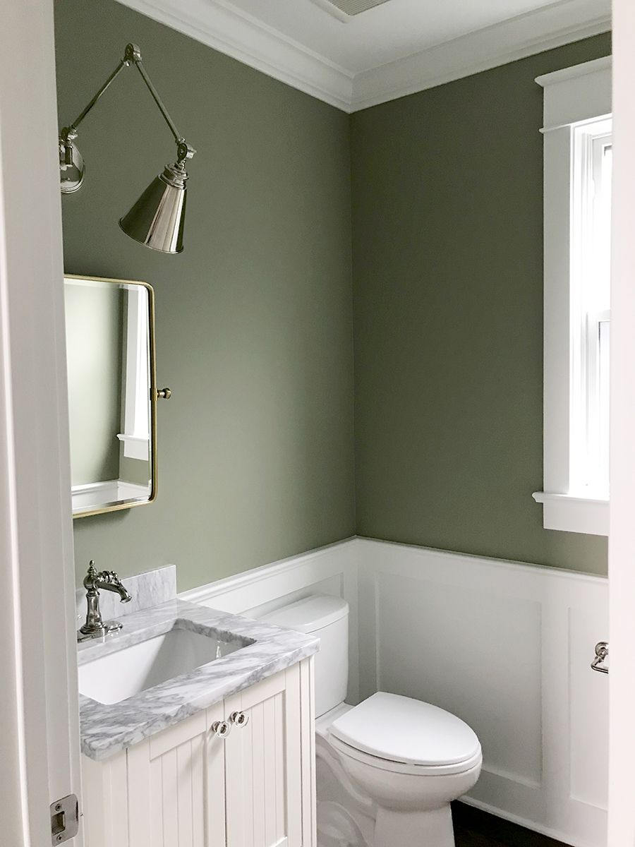 Our Powder Room Painting The Walls Sage Green In 2020 Green Bathroom Green Bathroom Paint Bathroom Interior Design