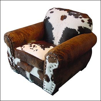 cow hide accent chair