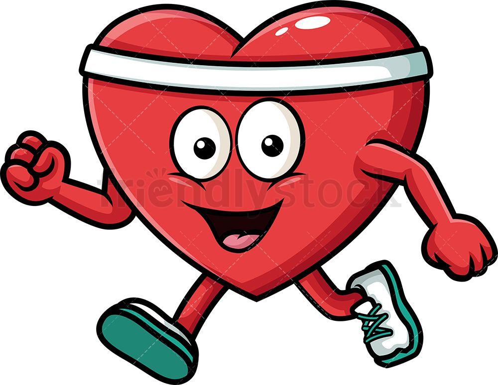 Healthy Heart Exercising Cartoon Vector Clipart Friendlystock Cartoon Clip Art Cartoon Art Cartoon