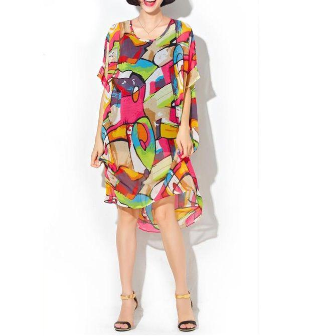 Hemdblusenkleider - Affe Baumwolle Rundkragen Casual Dress - ein Designerstück von DIYtime bei DaWanda