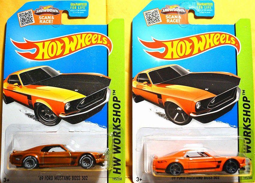 Hot Wheels 2015 E Case '69 Ford Mustang Boss 302 Super Treasure Hunt